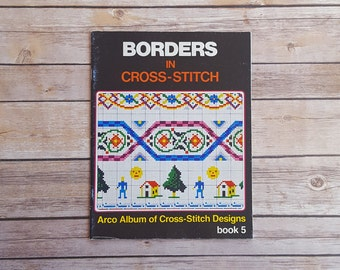 Borders For Cross Stitch Simple Borders Simplistic Designs Easy To Stitch 80s Cross Stitch Book Hipster Cross Stitch Geometric Shapes Boxy