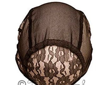 Black Wig Cap. Adjustable Strap & Comb. S, M, L, XL. Wig Making Foundation. Base Net Mesh for Wig