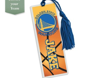 Pick your team - Basketball - Bookmark, Personalized Kids Bookmark, Personalized Bookmark, Kids Bookmark