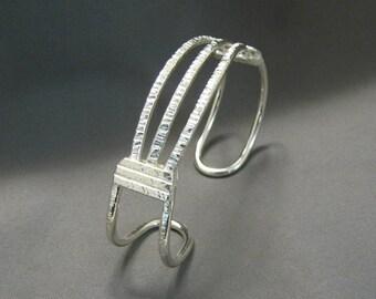 Handmade Sterling Silver Wire Cuff Bracelet