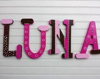 Nursery Letters - Whimsical Font - Kids Name Letters - Baby Name Letters