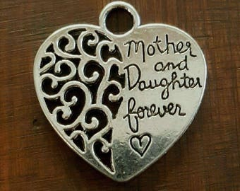 3 Heart Mother and Daughter Forever Charm