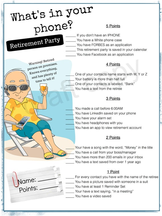 Beautiful printable retirement party games - Baskan.idai.co OR72