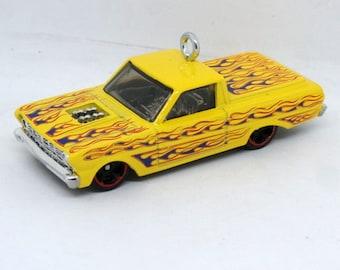 Ford Ranchero Truck Pickup Hot Wheels Ornament, BettyBeadsStore, Custom Gift for