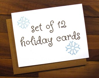 Set of 12 Holiday Cards