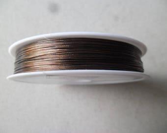 x 80 meters of 0.45 mm diameter coffee color steel wire