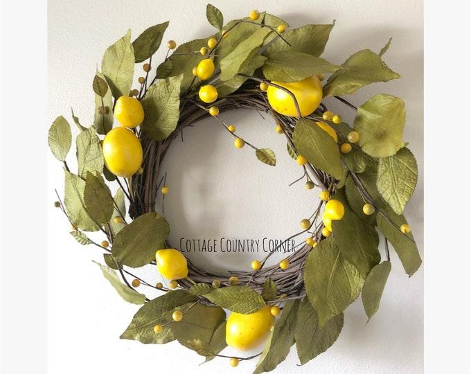 Lemons For Days Wreath