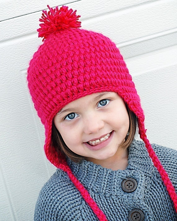 Puffy earflap hat crochet pattern instant puffy earflap hat crochet pattern instant downloadpermission to sell all finished products dt1010fo