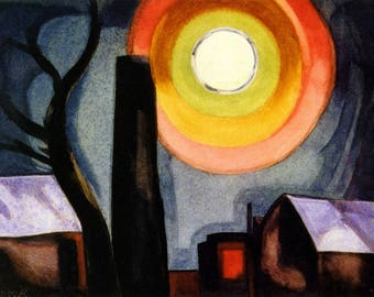 Ascension Painting by Oscar Bluemner Art Reproduction