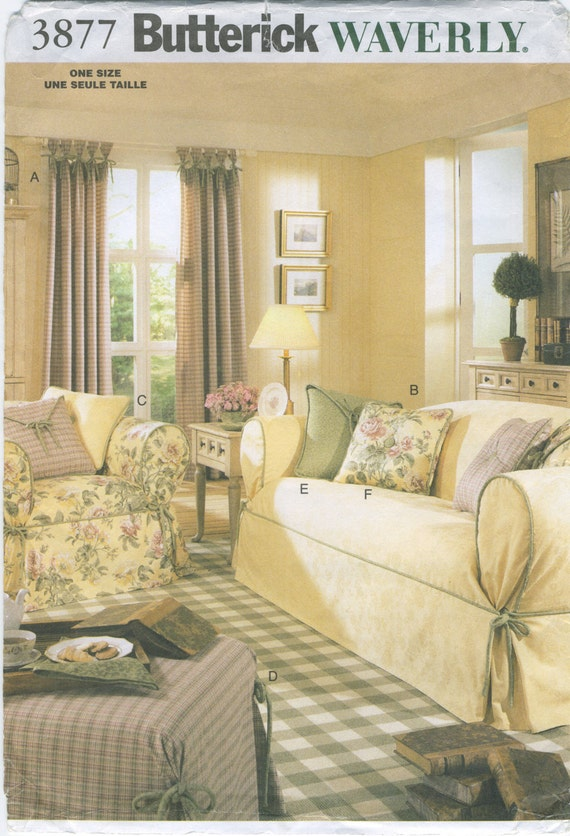 Chair & Sofa Covers Pillow Drapes Sewing Pattern Butterick