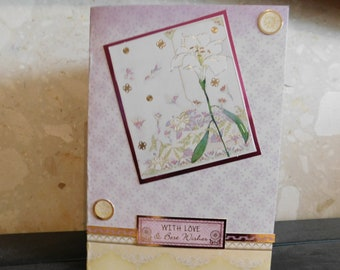 Lilly themed greetings card / female / friend themed