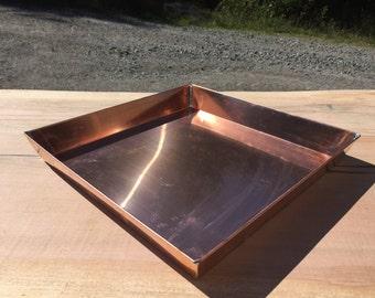 Small Copper Garden Tray