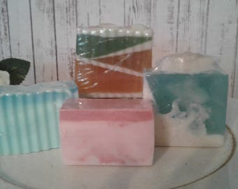 Handcrafted Blended Soaps,Goats Milk, Aloe & Olive Oil  and Honey Soap