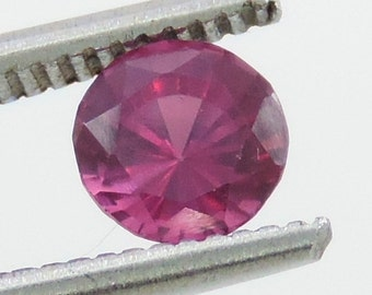 1.2 CTS rubellite pink  tourmaline round cut, mozambique