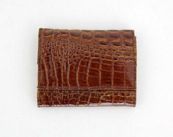 Vintage Wallet // Snake Skin Leather Wallet