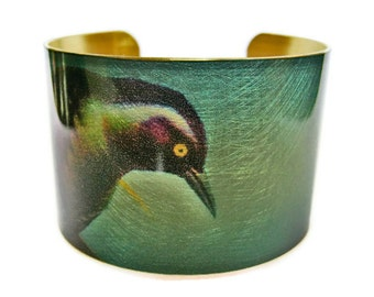 Bird brass cuff bracelet Free Shipping to USA Gifts for her