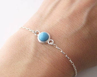 Bracelet with Swarovski turquoise Pearl and Silver 925/1000