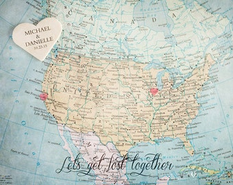USA Map, Wedding Guestbook Alternative, Wedding Guest Book, Signing Board, Wedding Decoration, Personalized Wedding Gift for Couple, Artwork