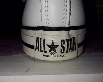 All Star/Made in USA (8US) LEATHER! (IRREGULAR) extreem rare!