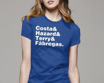 Chelsea Soccer shirt, Helvetica names list Shirt, futbol shirt, sports team clothing, soccer clothing, soccer gift, sports gift for kids