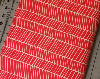 HALF YARD cut of Joel Dewberry of Flora - Herringbone in Poppy - PWJD036