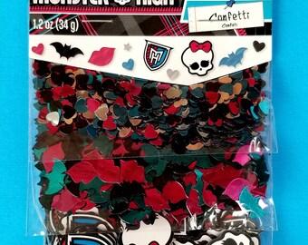 Monster High Confetti Monster High Birthday Party Monster High table confetti skull confetti Hearts confetti bat confetti lips confetti part
