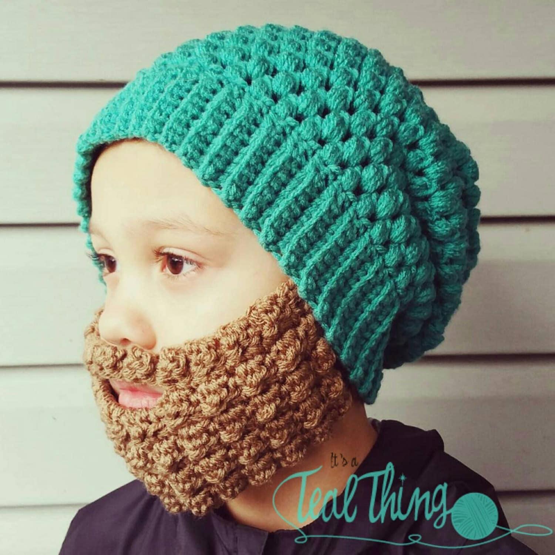Crochet Beard Pattern with 3 styles included Hat pattern is