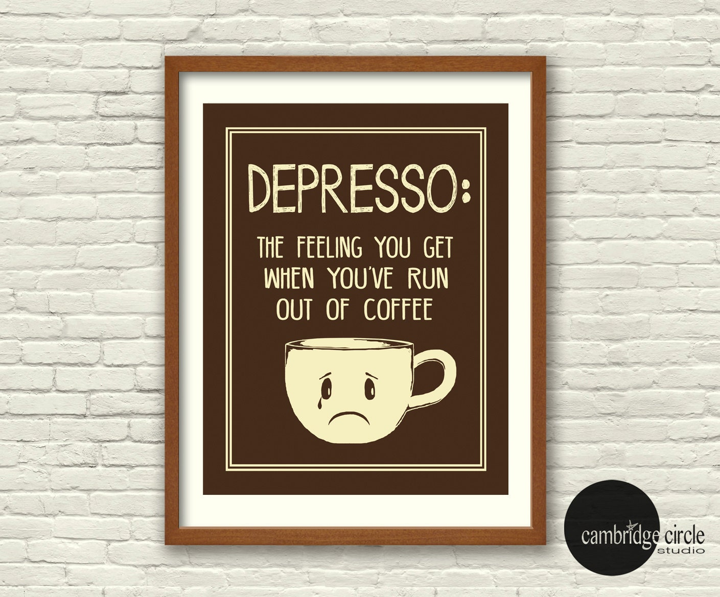 Depresso, Coffee Wall Art, Coffee Lover, Coffee Prints, Cute Gifts, Kitchen  Decor, Funny Wall Art, Espresso Print, Cafe Art, Wedding Gifts