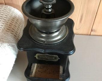 Vintage coffee grinder mill