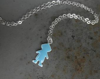 Little boy charm chain necklace