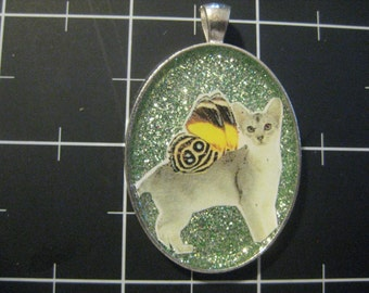 100% Donation Items: Ethereal Winged Cat Pendant, All proceeds go to the current selected animal charity