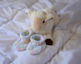 Crochet baby 3-6 month slipper socks