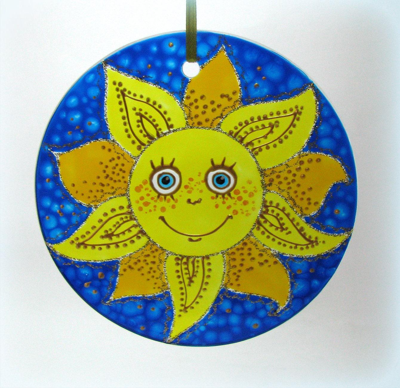 The Sun sun catcher window & wall hanging sun decor Hand