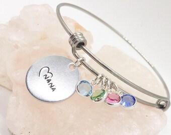 Mothers Day for Nana Gift from Kids, Nana Bracelet, Nana Jewelry, Nana and Grandkids Gift, Nana And Kids Jewelry, Gift for Nana, Nana Gifts