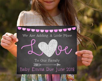Pregnancy Reveal To Grandparents- Pregnancy Announcement Sign-Baby Announcement Chalkboard-New Baby Sign-Pregnancy Announcement With Sibling