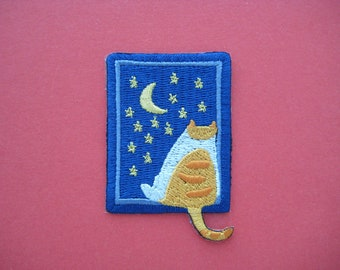 Adorable~ Self-adhesive/ Iron-on Patch Starry Night 2.5 inch