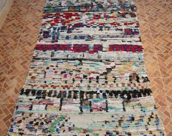 """Vintage rug, Moroccan rug, carpet, rag rug, floor covering, area rug, ready to light up you room and give a magical look... 7'3"""" x 4'1"""" feet"""