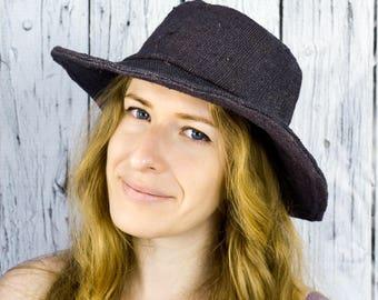 Sun Hemp Hat, Handmade hat, Eco-freindly Hat, Dark Blue Hat