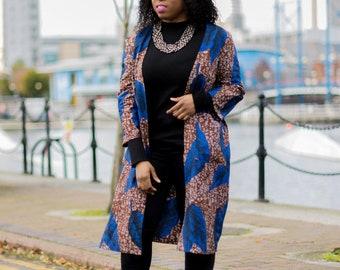 Ankara jacket, jacket, long ankara jacket, african print jacket, african print long jacket