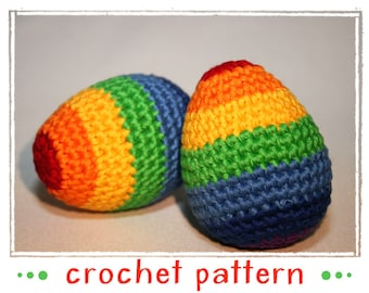 Umizoomi Rainbow Egg - Egg Collection & Chick - Crochet Pattern - PDF file - Amigurumi