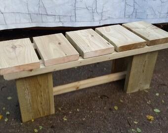 Rustic Chunky Bench