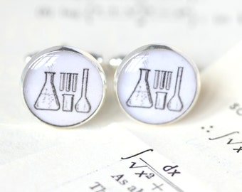 Chemistry Cufflinks, Science Cufflinks, gifts for teachers, gifts for chemistry teachers, gifts for science teachers,Scientists Cufflinks