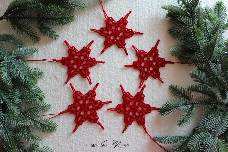 Favoloso Decorazioni natalizie in pizzo chiacchierino set 3 fiocchi BS05