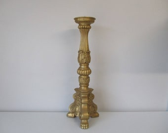 Candle holder CANDELABRA, gilt and patinated by hand