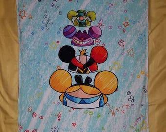 Alice in wonderland hats baby blanket