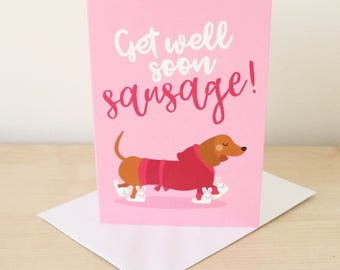 Get well soon card / Get well card / Thinking of you card / Sympathy card / Funny get well card / Recovery card / Well wishes card