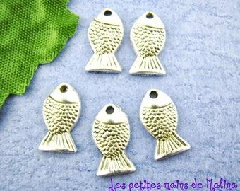 20 fish handmade charms