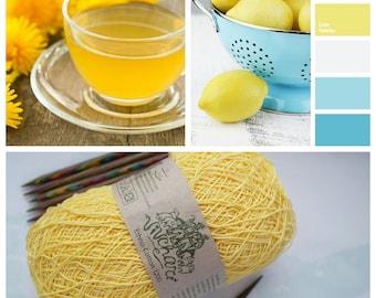 Yellow yarn Eco yarn Cotton yarn Linen yarn Summer yarn Crochet yarn Ethno-cotton 1200 Cotton linen yarn Premium yarn Baby yarn
