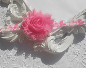 Pink Shabby  flower  Baby Headband, Newborn Headband,  Infant Headband,Baby Headband, Headband Baby