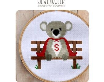 Super Koala Cross Stitch Pattern Instant Download